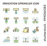 irrigation system and watering... | Shutterstock .eps vector #494066383
