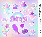 bright colorful bakery and... | Shutterstock .eps vector #494069587