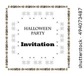 halloween party. invitation | Shutterstock .eps vector #494073487