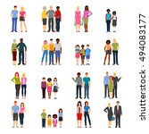 buddies and friends together... | Shutterstock .eps vector #494083177