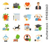insurance companies services...   Shutterstock .eps vector #494083663