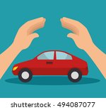 car security insurance | Shutterstock .eps vector #494087077