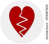 broken heart | Shutterstock .eps vector #494087803
