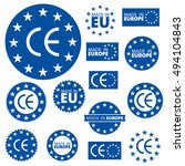made in european union labels | Shutterstock .eps vector #494104843