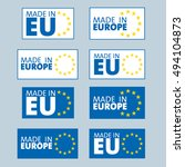 made in european union labels | Shutterstock .eps vector #494104873
