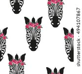 zebra animal   vector  ... | Shutterstock .eps vector #494107867