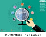 business world  modern idea and ... | Shutterstock .eps vector #494110117