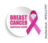 breast cancer awareness pink... | Shutterstock .eps vector #494111797