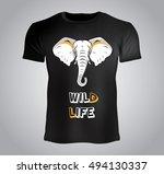 t shirt design   elephant... | Shutterstock .eps vector #494130337