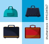 luggage suitcases image | Shutterstock .eps vector #494134567