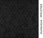 black abstract rhombus backdrop.... | Shutterstock . vector #494137063