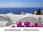 White Roof Near The Sea In...