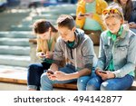technology  internet addiction... | Shutterstock . vector #494142877