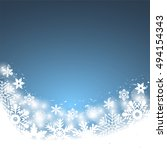 christmas blue background  with ... | Shutterstock .eps vector #494154343