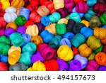 tailoring. many colorful... | Shutterstock . vector #494157673