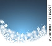 christmas blue background  with ... | Shutterstock . vector #494163037