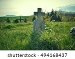 old grave on traditional... | Shutterstock . vector #494168437