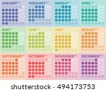 simple colorful calendar for... | Shutterstock .eps vector #494173753