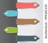 vector illustration of modern... | Shutterstock .eps vector #494181133