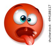 red crazy character funny with... | Shutterstock .eps vector #494188117