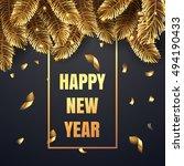 elegant vector christmas... | Shutterstock .eps vector #494190433