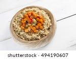 qinoa with ratatouille vegan...