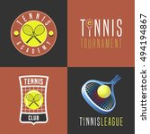tennis  sport set of vector... | Shutterstock .eps vector #494194867