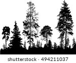 illustration with pine forest... | Shutterstock .eps vector #494211037