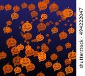 halloween concept with light... | Shutterstock . vector #494222047