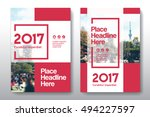 red color scheme with city... | Shutterstock .eps vector #494227597