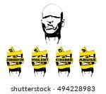 stranger face   Shutterstock .eps vector #494228983