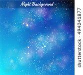 vector night background. stars.   Shutterstock .eps vector #494241877