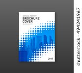 brochure cover design template... | Shutterstock .eps vector #494241967