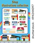 shop illustration collection | Shutterstock .eps vector #494244097