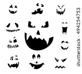 vector illustration of scary... | Shutterstock .eps vector #494254753