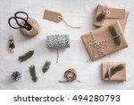 Set For Gift Wrapping. Eco...