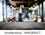 empty wooden table space... | Shutterstock . vector #494285917
