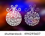 lettering with inscription have ... | Shutterstock .eps vector #494295607