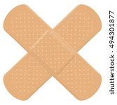 adhesive bandage cross symbol   ... | Shutterstock .eps vector #494301877