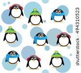 a seamless background of cute... | Shutterstock . vector #494310523