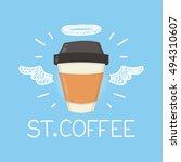 "coffee heaven concept ""st.... | Shutterstock .eps vector #494310607"