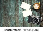 cup of coffee vintage film... | Shutterstock . vector #494311003