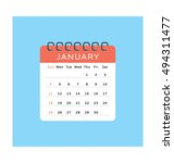 events vector icon | Shutterstock .eps vector #494311477