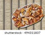 Plateful Of Spit Roasted Pork...
