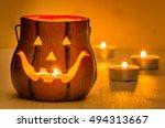 Jack O Lantern Candle Holder O...