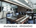 modern lounge bar interior | Shutterstock . vector #494344543