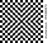 Bulging Checkerboard Illusion....
