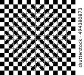 Bulging Checkerboard Illusion....