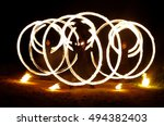 fire show  fire performance ... | Shutterstock . vector #494382403