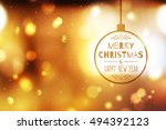 vector blurred christmas... | Shutterstock .eps vector #494392123